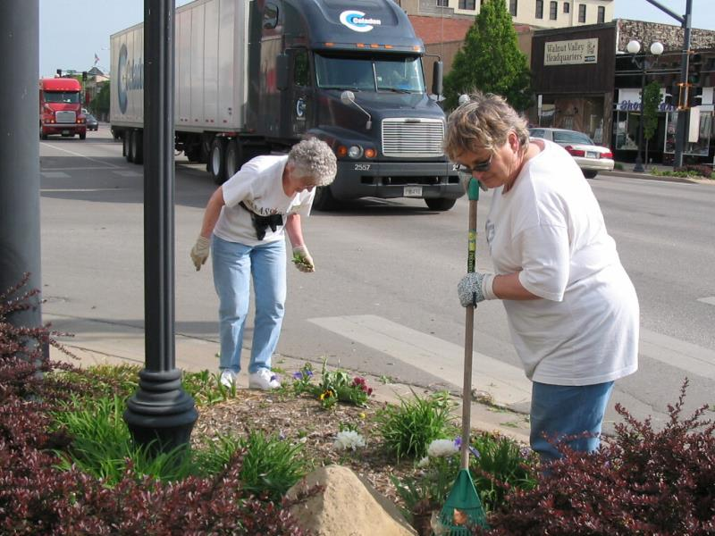 Downtown Flower Planting