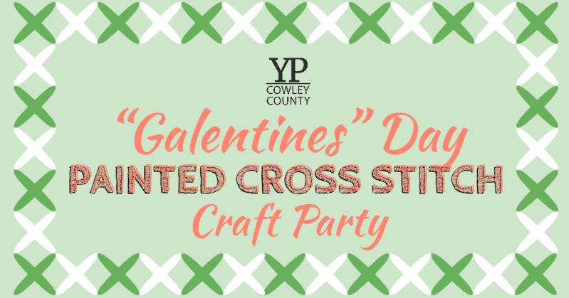YP Galentines Day Painted Cross-Stitch Craft Party